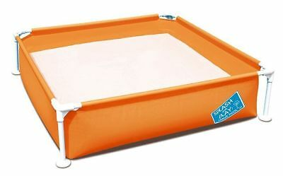 Bestway 56217 My first Frame Pool 122x122x30,5cm orange Planschbecken Kinderpool