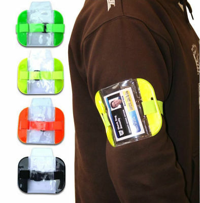 Tactical ID Arm Band Security ID Badge Card Holder Doorman Armband SIA New