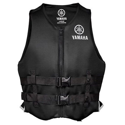 Yamaha Marine New OEM Unisex PFD Neoprene 2 Buckle Life Jacket, 2XL, Black