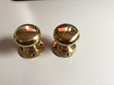 Pair Of Reclaimed Brass Cottage style Door knobs