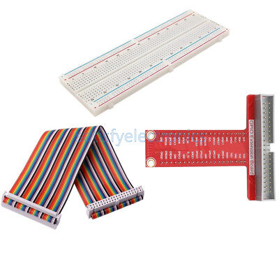 Raspberry Pi 2 B Kits T Type GPIO Extension Board+Breadboard+40Pin Rainbow Cable