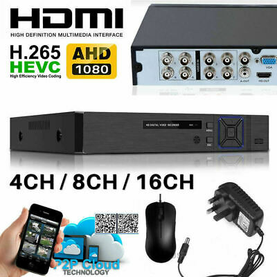 Smart CCTV DVR 4 8 16 Channel AHD 1080N Video Recorder HD 720P VGA HDMI BNC UK