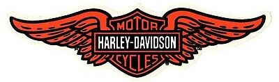 "12-3/4"" Genuine Harley Davidson Winged Bar Shield ~ Outside Window Decal Sticker"