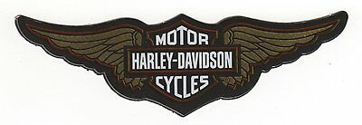 """Genuine Harley Bronze Bar And Shield Wings 5"""" Indoor Reflective Sticker Decal!"""