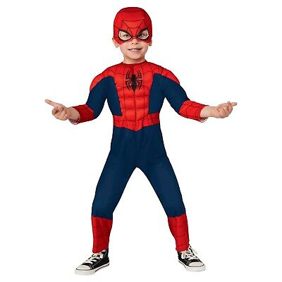 New boys 2T 3T toddler SPIDERMAN muscles Halloween Costume superhero play
