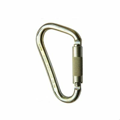 Genuine ISC Iron Wizard Large Steel 2 Way Twist Lock Carabiner IS-KH415TL1 NEW