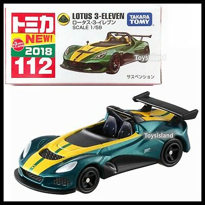 TOMICA #112 Lotus 3-ELEVEN 1/59 TOMY 2018 MAR NEW DIECAST CAR GREEN