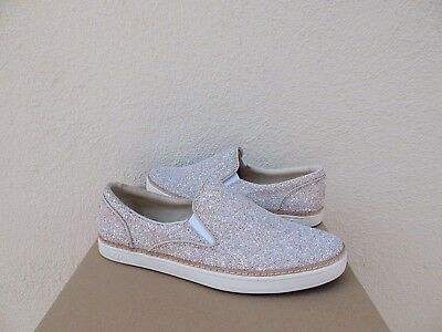 14d08f3cea2 UGG ADLEY POWDER Chunky Glitter Leather Slip-On Sneakers, Us 10/ Eur 41 ~Nib
