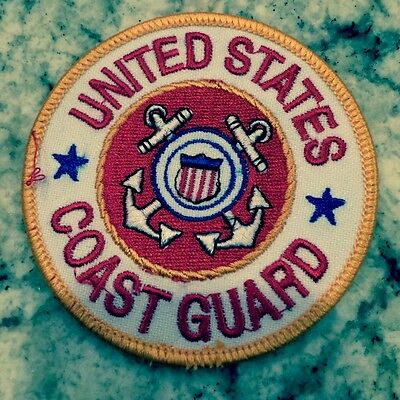 US Coast Guard patch small white. 3 inch diameter NICE!
