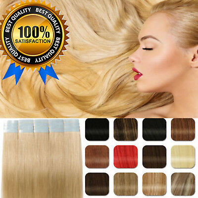 Brazilian 20/40PCS Thick Remy Weft Tape in 7A Virgin Human Hair Extensions UK