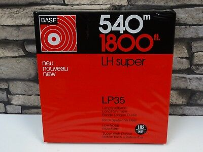 1 x Brand New BASF LP35 Long Play 1800ft 7in 1/4in Wide Reel To Reel Tape