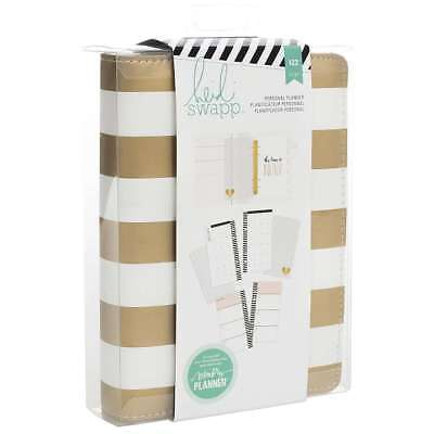 American Crafts Heidi Swapp Faux Leather Personal Memory Planner Stripes Print G