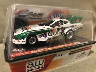 AFX - AUTO WORLD - AW - 4Gear Castrol Mike Neff Mustang NHRA Funny Car Slot Car