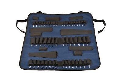 SOCKET ROLL PRO - Roll Up Socket Organizer / Carrier, Blue