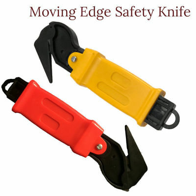 Moving Edge Safety Knife Box Opener Seat Belt Cutter Shrink Wrap Tape Cutter