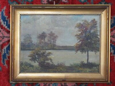 Early 20Th Century Artist Signed Landscape Oil Painting