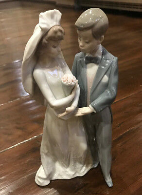 """LLadro 'From this Day Forward"""" Wedding Couple """"MINT"""" Retired"""