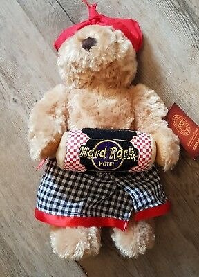 Hard Rock Cafe / Hotel Bali Traditiona Dress w/ Drum Teddy Bear HTB  Herrington