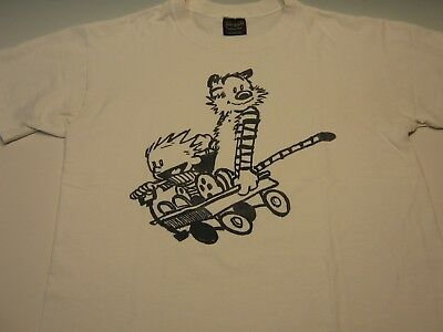 VINTAGE,CLASSIC,CALVIN&HOBBES t-shirt, large,1992,VERY RARE!, GOOD CONDITION