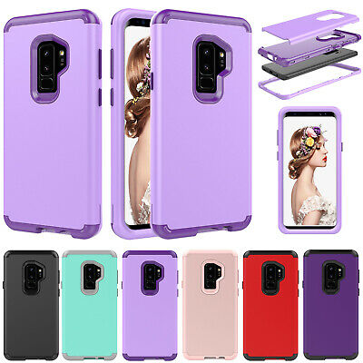 For Samsung Galaxy S9 S10 Plus Case Shockproof Armor Hybrid Rubber Phone Cover