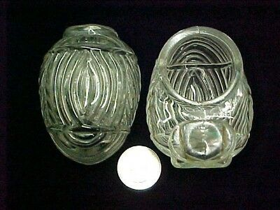 Vintage 30's 40's Clear Glass Bird Cage Feeders Feeder Cups Hendryx USA