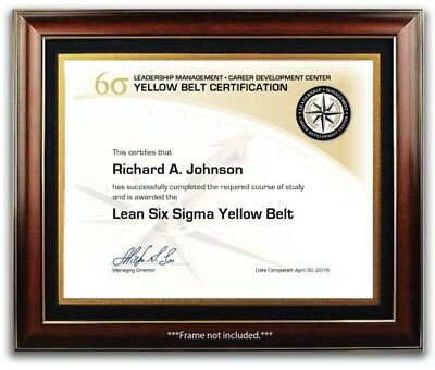 Lean Six Sigma Yellow Belt Training Course Certificate / Diploma - Management
