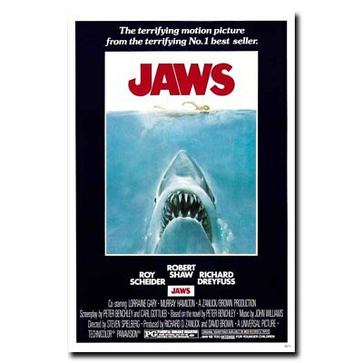 Jaws 24x16inch Classic Movie Silk Poster Cool Gift Hot Shop Room Decal Art Print