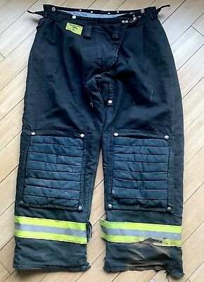 Firefighter MORNING PRIDE Black Bunker Turnout Pants Size 36/38W x 30/31 Inseam