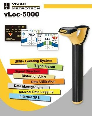 Vivax Metrotech Pro 5000 SD SIS 10 Watt  Cable Sonde Sewer Camera Pipe Locator