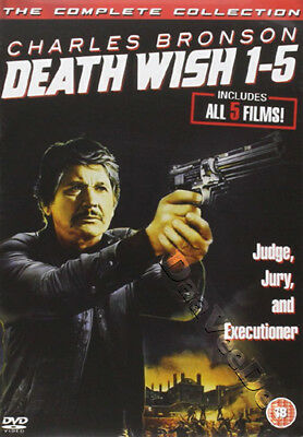 Death Wish 1-5 (Complete Collection) NEW PAL Classic 5-DVD Set Charles Bronson