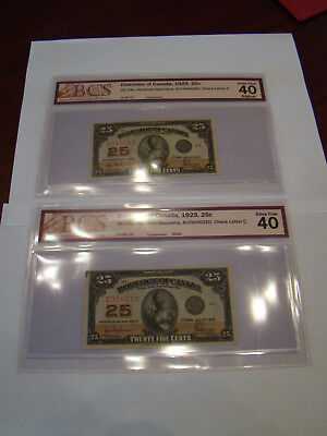 1923 Dominion of Canada 25 Cent Banknote HYNDMAN IN SEQUENCE