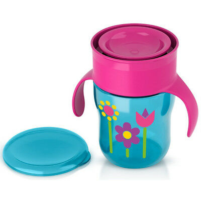 Philips Avent BPA-free Natural Drinking Cup For Girl, 9 oz /260ml - Pink/Blue