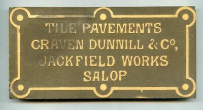 """Encaustic advertising floor tile by Craven Dunnill 6""""x3"""", 1896"""
