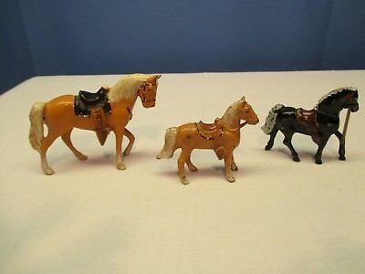Vintage, Three Cast Metal Horse Figurines, Made in Japan, Great Condition
