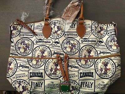 Disney Dooney And & Bourke Epcot 2017 Figment Food And Wine Festival Tote *NWT*