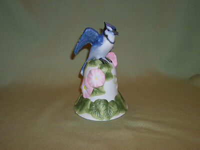 Bisque Bell With Blue Jay Made By Avon In 2001