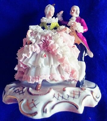 WR Dresden lace figurine No Reserve!