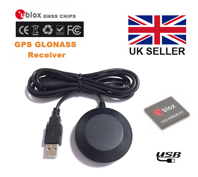 BN-808 USB GPS Receiver with magnetic base, Ublox 8, Win 7/8/10 Linux, Ras Pi