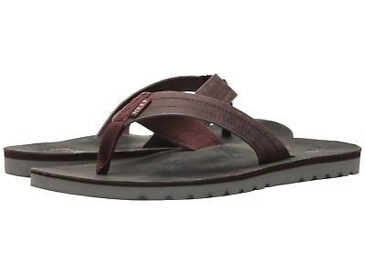 d8c28db502bf Men s Shoes Reef Voyage Leather Flip Flop Sandals RF0A2YFR Grey   Red ...
