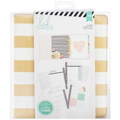 American Crafts Heidi Swapp Memory Planner - Large Gold Foil Stripes Fun and Uni
