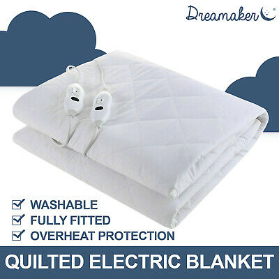 KING SINGLE 120 GSM QUILTED ELECTRIC BLANKET Heating Fitted MATTRESS UNDERLAY