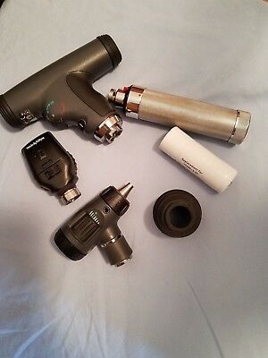 WELCH ALLYN 11820 PANOPTIC OPHTHALMOSCOPE & #11710 & #23810 with Handle