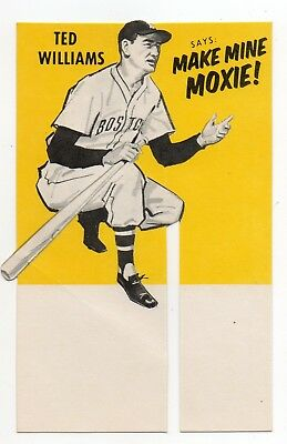 Moxie Ted Williams Case Insert Card  Rare