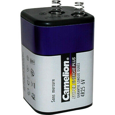 CA4R25 6V Lantern Battery Super Heavy Duty Camelion Blue Series Super Heavy-Duty