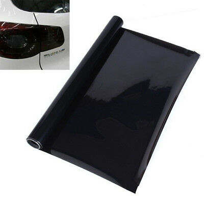"Dark Black 12""X 23""Tint Headlight Taillight Fog Light Vinyl Smoke Film Sheet New"