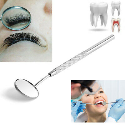 1 Pc Stainless Steel Dental Mirror For Checking Eyelash Extension Applying Tools