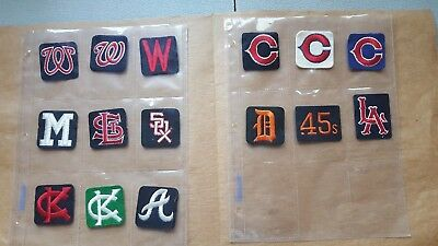 Lot of 15 Vintage 1960s-70s MLB Baseball Patches New 10 Teams 3 with Variation