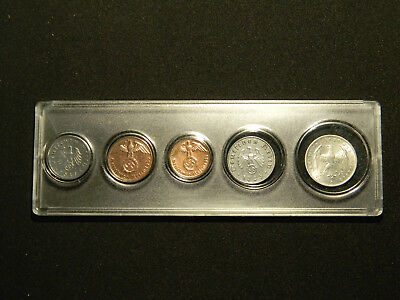 WWII Germany Reich Coins Set  Big War Eagle with display case
