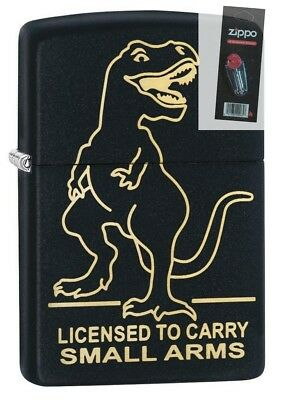 Zippo 29629 Licensed to Carry Small Arms Black Matte Finish Lighter + FLINT PACK