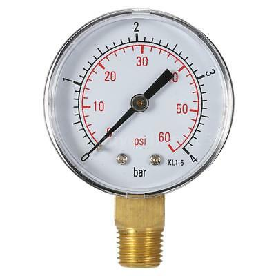 50mm 60psi 4bar Water Pressure Dial Hydraulic Pressure Gauge Manometer G7F6